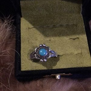 Authentic vintage sterling silver Turquoise ring
